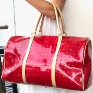 Arcadia leather overnight bag